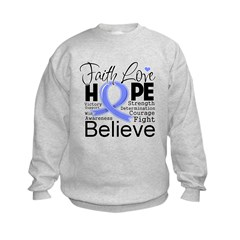 Faith Hope Stomach Cancer Kids Sweatshirt