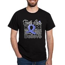Faith Hope Stomach Cancer T-Shirt