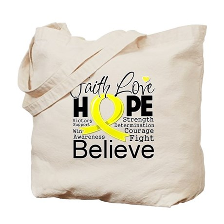 Faith Hope Testicular Cancer Tote Bag