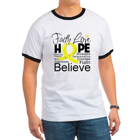 Faith Hope Testicular Cancer Ringer T