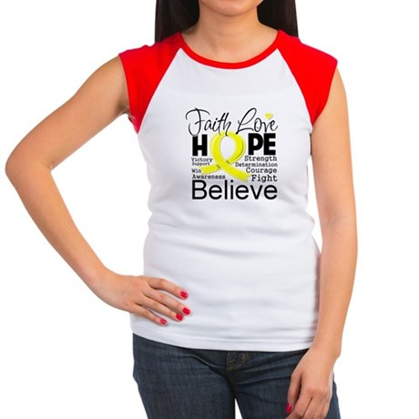 Faith Hope Testicular Cancer Women's Cap Sleeve T-
