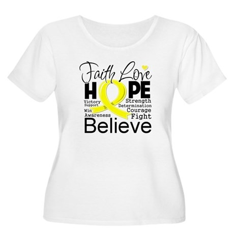 Faith Hope Testicular Cancer Women's Plus Size Sco