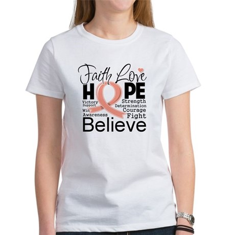 Faith Hope Uterine Cancer Women's T-Shirt