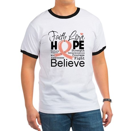Faith Hope Uterine Cancer Ringer T