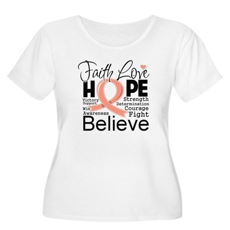 Faith Hope Uterine Cancer Women's Plus Size Scoop