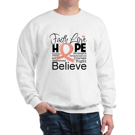 Faith Hope Uterine Cancer Sweatshirt