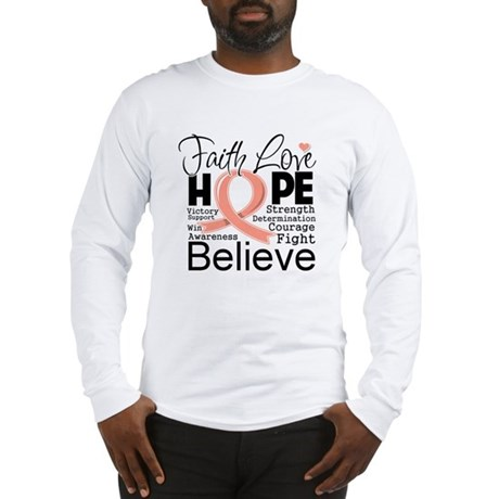 Faith Hope Uterine Cancer Long Sleeve T-Shirt
