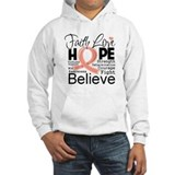 Faith Hope Uterine Cancer Hoodie