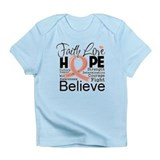 Faith Hope Uterine Cancer Infant T-Shirt
