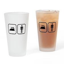 Ironman Triathalon Icons Drinking Glass