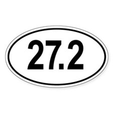 27.2 Go The Extra Mile Oval Decal