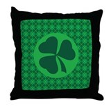 Irish Lucky 4 Leaf Clover St Patricks Throw Pillow