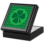 Irish Lucky 4 Leaf Clover St Patricks Keepsake Box