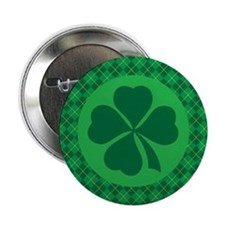 "Irish Lucky 4 Leaf Clover St Patricks 2.25"" Button"