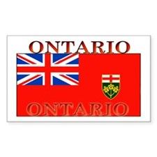 Ontario Ontarian Flag Rectangle Decal
