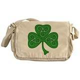 Celtic Shamrock Messenger Bag