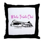 White Trash Chic Throw Pillow