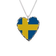 Swedish Flag Necklace