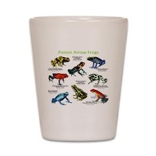 Poison Dart Frogs of the Amazon Shot Glass