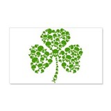 Shamrock Skulls St Pattys Day Wall Decal