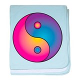 Yin/Yang Taoist Symbol of Balance baby blanket