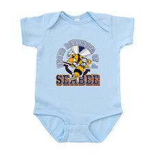Navy Seabee 2 Infant Bodysuit