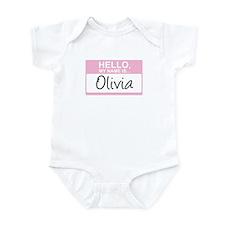 Hello, My Name is Olivia - Infant Bodysuit