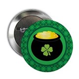 "Leprechaun Gold St Patrick's 2.25"" Button"