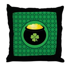 Leprechaun Gold Treasure St Paddy's Throw Pillow