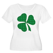Shamrock Plaid Clover T-Shirt
