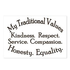 My Traditional Values Postcards (Package of 8)