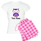 Personalized Purple Ribbon Owl pajamas