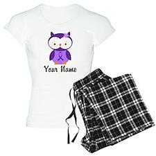Personalized Purple Ribbon Owl Pajamas