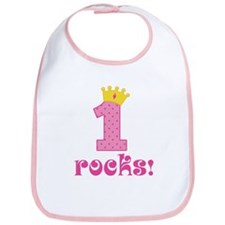 1st Birthday Princess Crown Bib