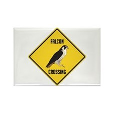 Falcon Crossing Sign Rectangle Magnet
