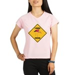 Flamingo Crossing Sign Performance Dry T-Shirt