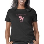 Flamingo Crossing Sign Women's Raglan Hoodie