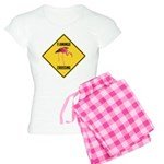 Flamingo Crossing Sign Women's Light Pajamas