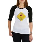Flamingo Crossing Sign Jr. Raglan