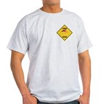 Flamingo Crossing Sign Light T-Shirt