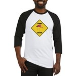 Flamingo Crossing Sign Baseball Jersey