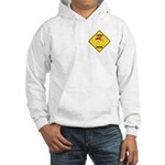 Flamingo Crossing Sign Hooded Sweatshirt