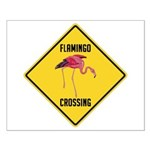 Flamingo Crossing Sign Small Poster
