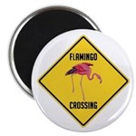 Flamingo Crossing Sign Magnet