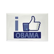 I like Obama Rectangle Magnet