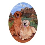 Golden Retrievers Ornament (Oval)