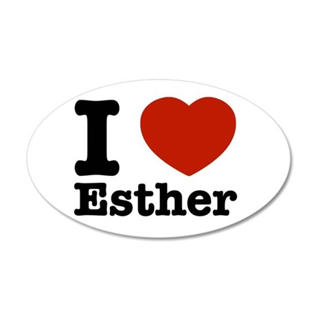 I love Esther 38.5 x 24.5 Oval Wall Peel