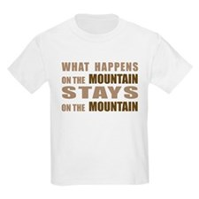 What Happens On The Mountain. Kids T-Shirt
