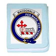 Funny Clan macdonald badge baby blanket