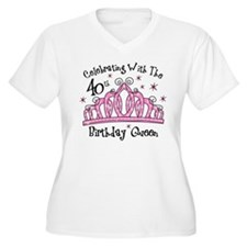 Tiara 40th Birthday Queen CW T-Shirt
